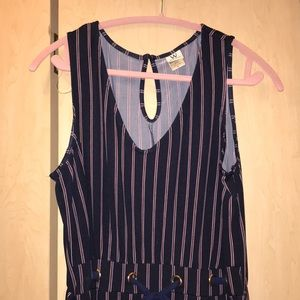 Sleeveless striped jumper NWOT